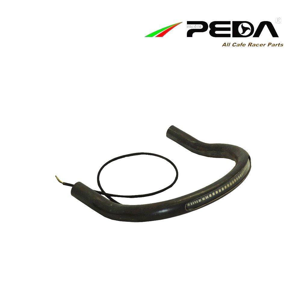 8 PEDA Cafe Racer Seat Frame Hoop Width 21.5CM Loop w//LED Light Lamp Motorcycle Brat Upswept Kick Up Steel Iron For SUZUKI GN125 GS125 HONDA YAMAHA