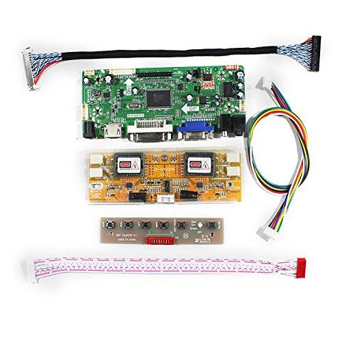 HDMI+VGA+DVI+Audio Input LCD Controller Board For M201EW02 M220EW01 20.1'' 22'' 1680x1050 4CCFL 30Pins LCD Panel by LCDBOARD (Image #1)