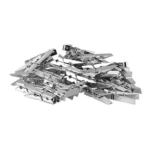 (TTOYOUU Set of 48pcs Mini Plastic Spring Clothespins Photo Peg Pin Clips(1.4