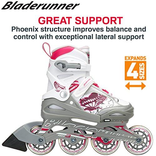 Bladerunner by Rollerblade Phoenix Boys Adjustable Fitness Inline Skate, Black and Silver, Junior, Value Performance Inline Skates by Bladerunner (Image #6)