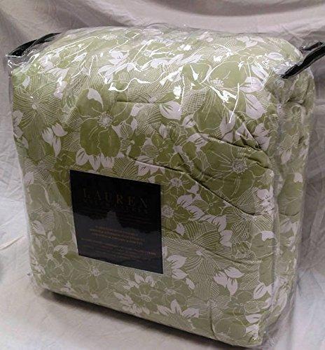 Ralph Lauren Walnut Grove Green White Floral Queen Comforter 4 pc Set