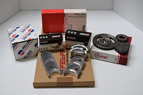 Chevy 454 Performer Engine Kit MOLY Rings Bearings Gaskets Timing kit & HV Oil Pump. (STD Sizes) (Pistons Big Chevy Block)