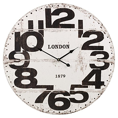 """Easygift Products Large Wood Vintage Wall Clock Round 24"""" Bi"""