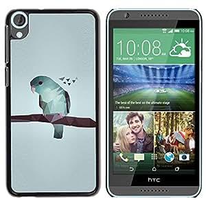 Be Good Phone Accessory // Dura Cáscara cubierta Protectora Caso Carcasa Funda de Protección para HTC Desire 820 // Art Gray Minimalistic Blue
