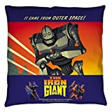 Iron Giant Animated Action Adventure Movie It Came From Space Throw Pillow