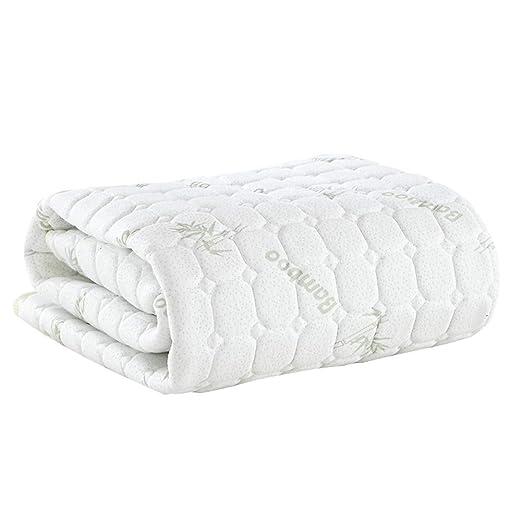 ASDFGH Ultra Soft Primeros del colchón de Fibra, Ligero Que Colchones Almohadilla de protección Plegable Estera de meditación Primeros del colchón ...
