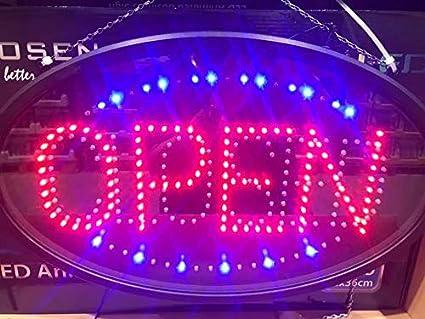 choisi Big ouverte et ferm/ée LED Neon anim/és Business Shop//restaurant//boutique Sign