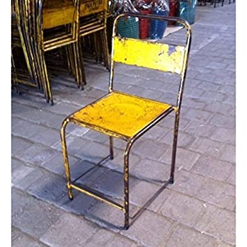 MATHI DESIGN Chaise En Metal Vintage