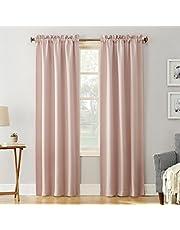 "Sun Zero Easton Blackout Energy Efficient Rod Pocket Curtain Panel, 40"" x 63"", Blush Pink"