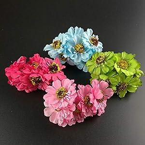 LySanSan - 72pcs 8cm Head Multicolor Artificial Camellia Flower Bouquet Scrapbooking Wedding Decoration Bridal Bouquet Flowers 98