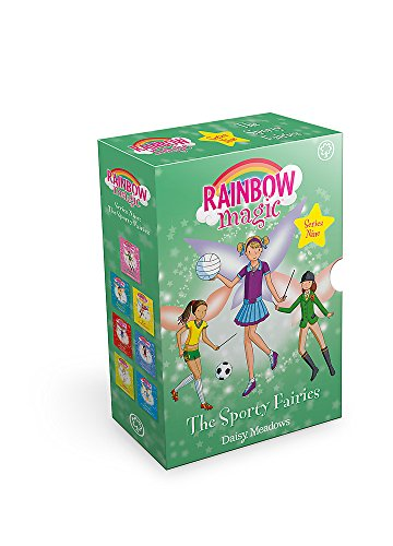 Rainbow Magic Series 9 Sporty Fairies Collection 7 Books Set By Daisy Meadows (Helena the Horseriding Fairy, Franscesca the Football Fairy, Zoe the Skating, Naomi the Netball..