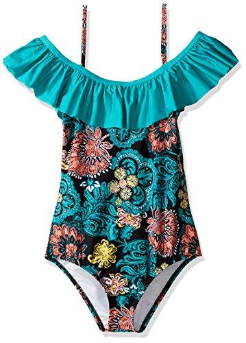 Splendid Big Girls' Farmhouse Floral One Piece Swimsuit, ...