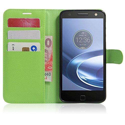 Funda Motorola MOTO Z Play,Manyip Caja del teléfono del cuero,Protector de Pantalla de Slim Case Estilo Billetera con Ranuras para Tarjetas, Soporte Plegable, Cierre Magnético E