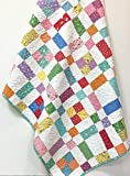 Baby Girl Crib Quilt Handmade 1930's reproduction prints Nursery Bedding