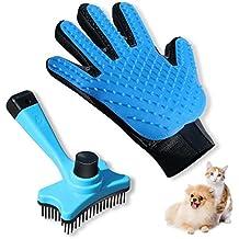 [Sponsored] SMIAOER Pet grooming glove & Pet grooming brush for dog cat small animal pet comb glove brush