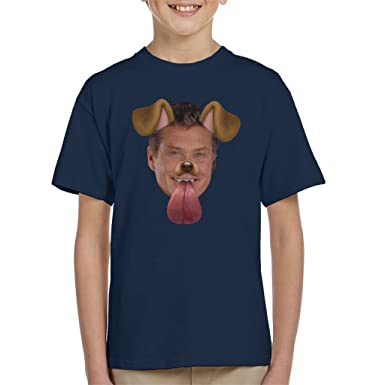 David Hasselhoff Dog Snapchat Filter Kids T Shirt Amazonde