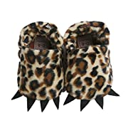 Vanbuy Baby Boys Girls Shoes Bear Paw Animal Slippers Boots Newborn Infant Crib Shoes WB28-Leopard-S