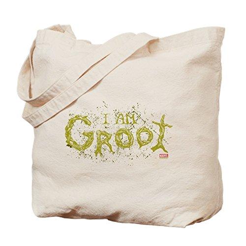 CafePress - Guardians Of The Galaxy Groot - Natural Canvas Tote Bag, Cloth Shopping Bag