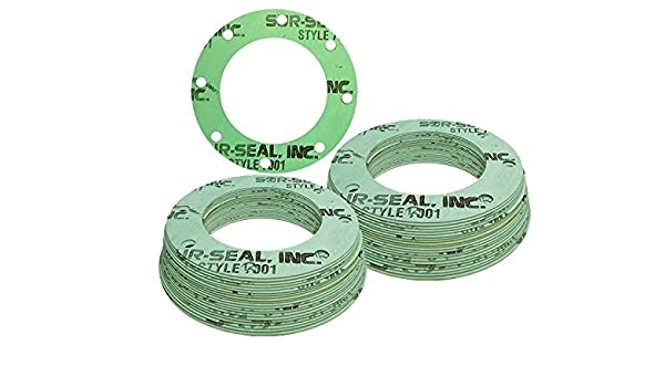 Sterling Seal CFF7001.2500.031.300X20 7001 Compressed Non-Asbestos Pack of 20 Pressure Class 300# 1//32 Thick 0.31 Aramid//NBR Full Face Gasket 2-1//2 Pipe Size Green//Blue//White