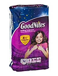 GoodNites Bedtime Underwear Girls L/XL 11 CT (Pack of 4) BOBEBE Online Baby Store From New York to Miami and Los Angeles