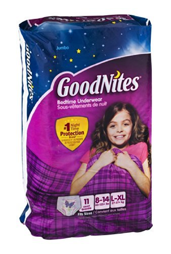 GoodNites Bedtime Underwear Girls L/XL 11 CT (Pack of 4) by GoodNites