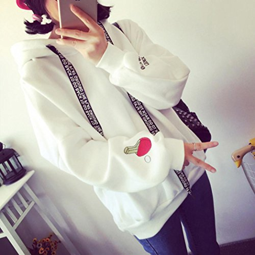 Challyhope Women Velvet Long Sleeve Hoodie Sweatshirt Letter Print Jumper Pullover