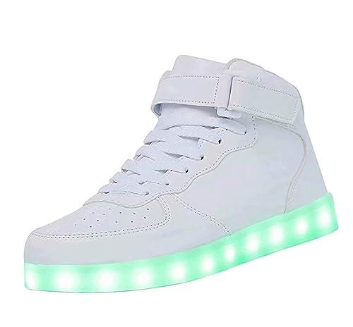 Zapatillas LED de Alta Gama Zapatillas USB para Hombres, Mujeres con Control remoto-38
