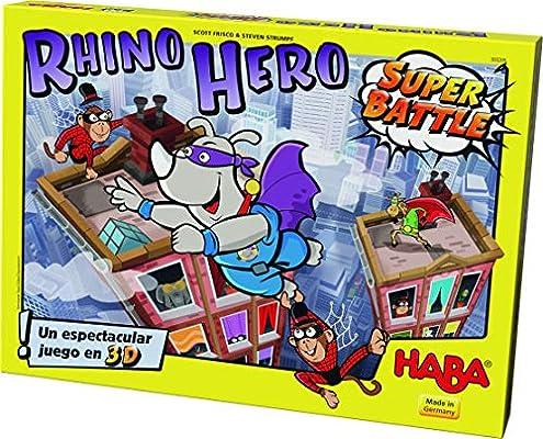 HABA- Rhino Hero Super Battle (303205): Amazon.es: Juguetes y juegos
