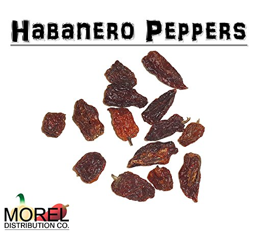 Dried Habanero Pepper (Chile Habanero) Weighs: 0.5 Oz, 1 Oz, 2 Oz, 4 Oz, 8 Oz, and 1 Lb!! (1 OZ) (Chile Chili Pepper Habanero)