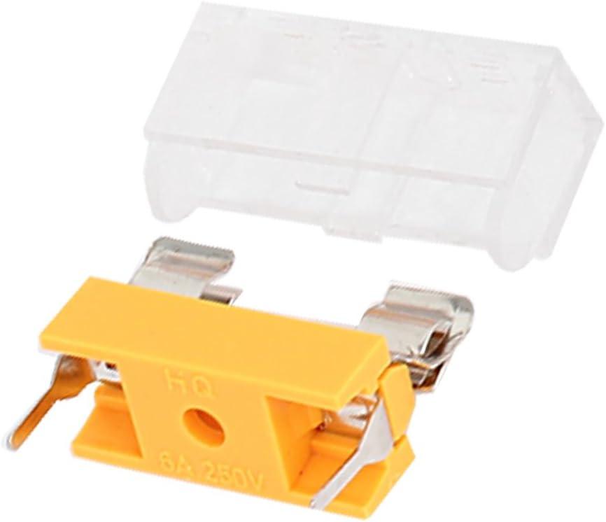 Aexit 10 pcs 250 V 6 A Double Bornes 5 x 20 mm fusible PCB Panneau support de fixation 414G905