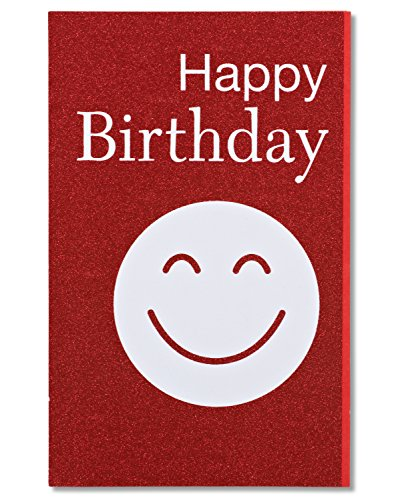 American Greetings Smiley Birthday Card with (Glitter Birthday Cards)