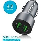 MINQ Smart Dual Port Car Charger [4.8Amp - 2 Port] High Speed Car Charger Fast Charging Car Charger for mobiles