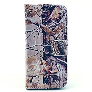 KINGCO Case for iPhone 5c,Real Tree Camo Design PU Leather Wallet Design Magnetic Flip Stand Case Cover with Credit Card Holder