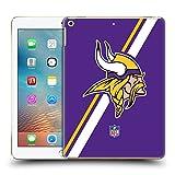 Official NFL Stripes Minnesota Vikings Logo Hard Back Case for iPad 9.7 2017 / iPad 9.7 2018