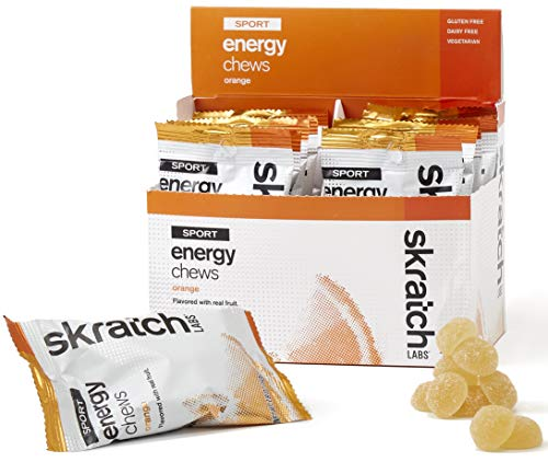 SKRATCH LABS Sport Energy Chews, Orange (10 pack) – Natural, Developed for Athletes and Sports Performance, Gluten Free, Dairy Free, Vegan