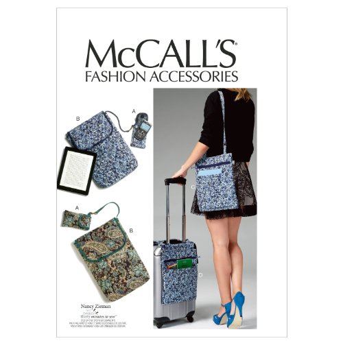 McCall Patterns M6668 Cell Phone/Computer Sleeves and Bags Sewing Template (Patterns Bag Quilted)