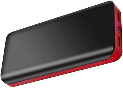 FKANT 【Neuste Modell】 Powerbank 10000mAh Externer Akku mit Dual Output 6A Ports Schnellladung Portable Ladeger/ät mit 4 LEDs Power Bank Handy f/ür iPhone Huawei Samsung iPad und mehr Smartphones