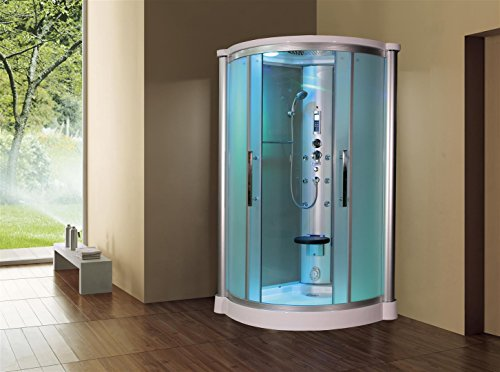 Sliding Door Steam Shower Enclosure Unit Glass Color: Froste
