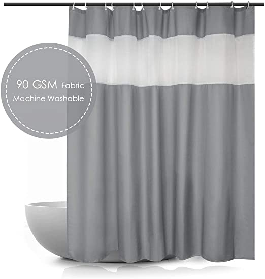 Detection Display Waterproof Polyester Fabric Shower Curtain Liner Bathroom Mat