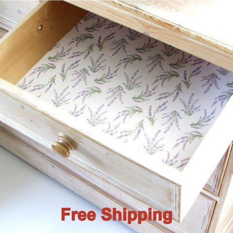 English Lavender Scented Drawer Liners Includes by Best British Gifts ()