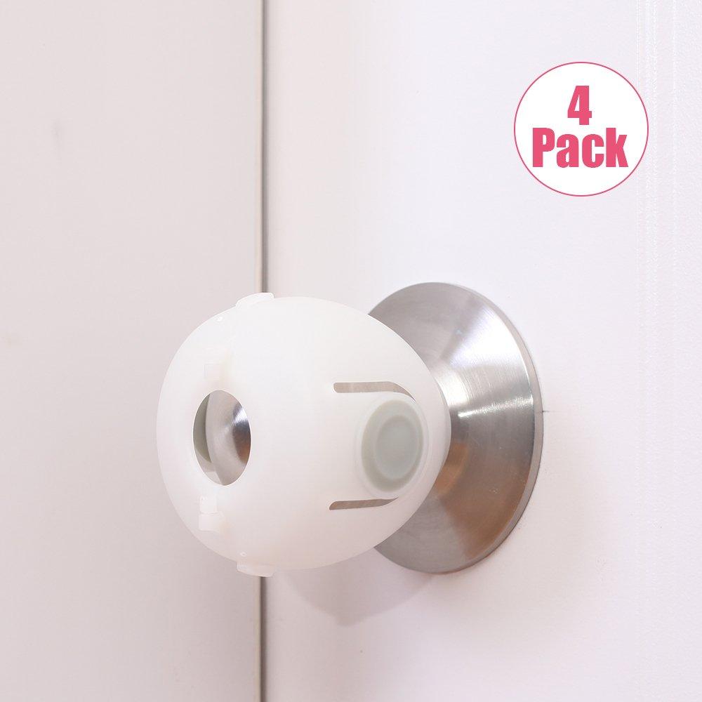 EUDEMON 4 Pack Baby Safety Door Knob Covers Door Knob Locks Ltd. 001YM02B932204