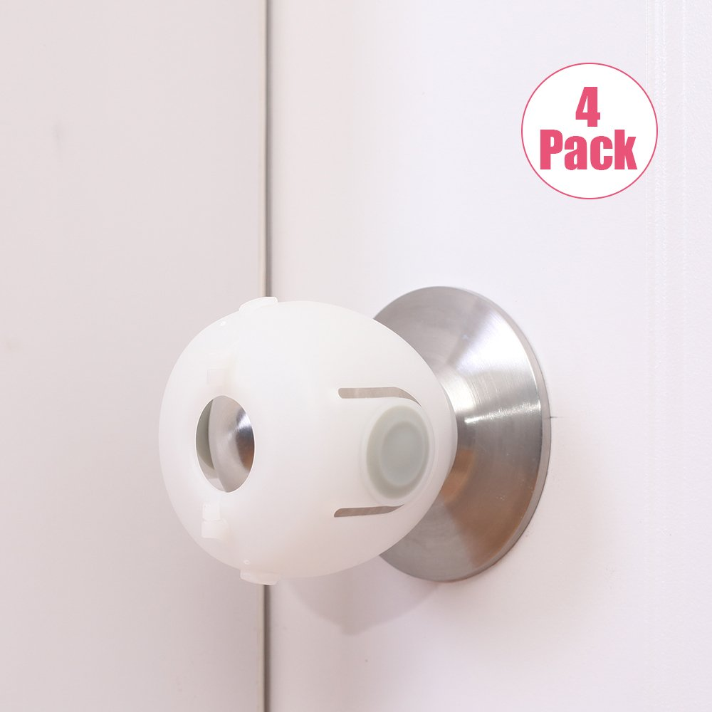 Eudemon Baby Safety Door Knob Covers Door Knob Locks (4 Pack)