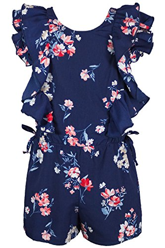 Truly Me, Big Girls Tween Stunning Romper (Many Options), 7-16 (16, Navy (Girls Clothes 7-14)