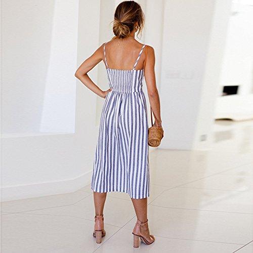 Donna Gorgeya A Fascia Striped VestitoReggiseno Blue fyb6v7Yg