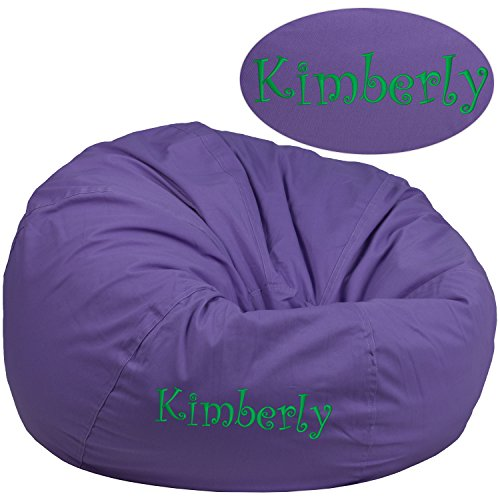 Personalized Bean Bag Chair - Add Your Text to Your Custom Designed Bean Bag Chair for Kids or Adult's with Your Personalized Name (Purple, Adult Size)
