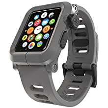 LUNATIK EPIK Polycarbonate Case and Silicone Strap for Apple Watch Series 1, Gray/Gray