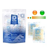 DRY&DRY 20 Gram [100 Packs] Food Safe Orange Indicating(Orange to Dark Green) Mixed Silica Gel Packets - Rechargeable(Updated)