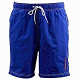 Nautica Men's Anchor Solid Racer Red Swimwear Trunks Shorts