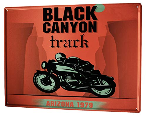 Tin Sign XXL metal plate plaque Holiday Travel Agency Black Canyon track