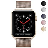 Watch Band 38mm, KYISGOS Strong Magnetic Milanese Loop Stainless Steel Replacement iWatch Strap for Apple Watch Series 2 Series 1 Nike+ Sport and Edition, Gold